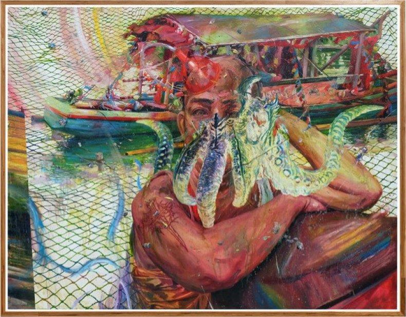 Rainbow Spill by Ronson Culibrina